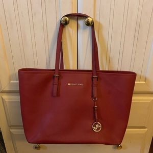 Large Michael Kors Authentic Burgundy maroon Tote